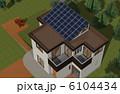 一軒家 ソーラーパネル 一戸建てのイラスト 6104434