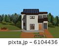 一軒家 ソーラーパネル 一戸建てのイラスト 6104436