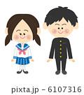 男子 セーラー服 中学生のイラスト 6107316