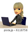 デスクワーク オフィスワーク パソコン操作のイラスト 6118758