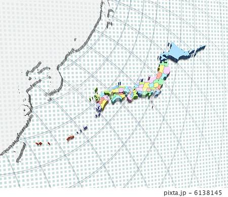 東アジア・日本周辺地図 6138145