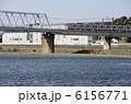 多摩川 京王線 鉄橋の写真 6156771