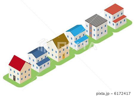 住宅街のイラスト素材 6172417 Pixta