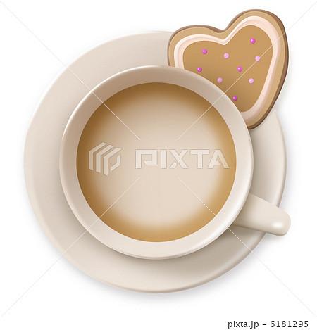 カフェオレとクッキーのイラスト素材 6181295 Pixta