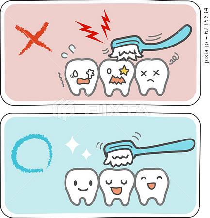 歯磨きのやり方のイラスト素材 [6235634] - PIXTA
