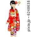 振り袖 女性 晴れ着のイラスト 6248638