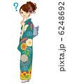 振り袖 晴れ着 女性のイラスト 6248692