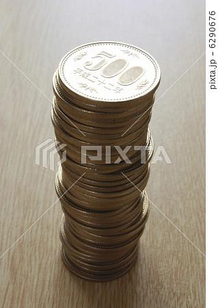 写真素材: 五百円硬貨