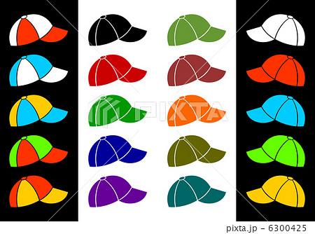 色とりどりの野球帽のイラスト素材 6300425 Pixta