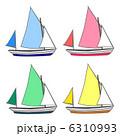 ヨット 乗り物 船舶のイラスト 6310993