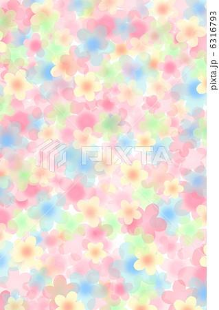 カラフルな花柄背景 6316793