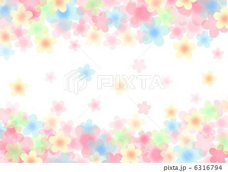 イラスト素材: カラフルな花柄 ... : ひな祭り 桃の花 イラスト : イラスト
