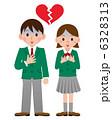 高校生 失恋 カップルのイラスト 6328313