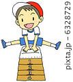 体育 跳び箱 小学生のイラスト 6328729