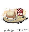 食パン トースト ジャムのイラスト 6337778