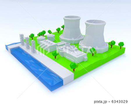 原子力発電所のイラスト素材 6343029 Pixta