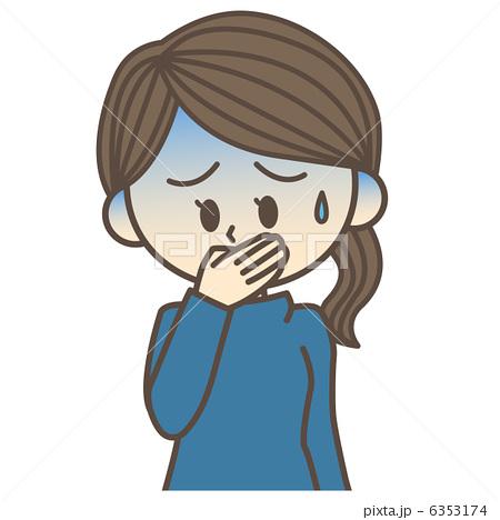 女性 吐き気のイラスト素材 6353174 Pixta