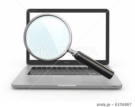 Search. Laptop and loupe 6356867