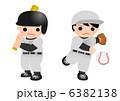 少年野球 バッター ピッチャーのイラスト 6382138