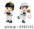 少年野球 バッター ピッチャーのイラスト 6382141