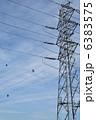 高圧電線 電線 鉄塔の写真 6383575
