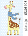 動物 きりん キリンのイラスト 6386406
