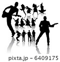 Dancing and Singing Peoples Silhouettes 6409175