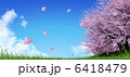 さくら吹雪 花びら ソメイヨシノのイラスト 6418479