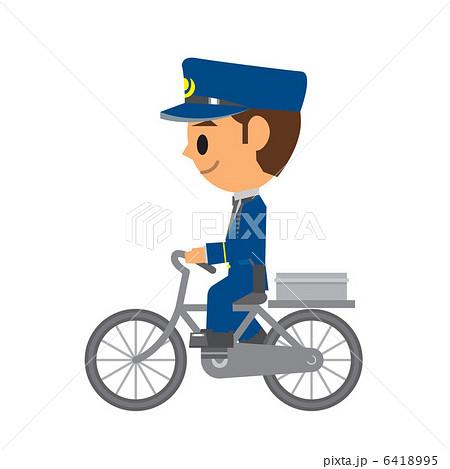 警察官 自転車 パトロールのイラスト素材 6418995 Pixta