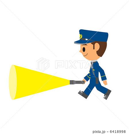 警察官 巡回のイラスト素材 6418998 Pixta