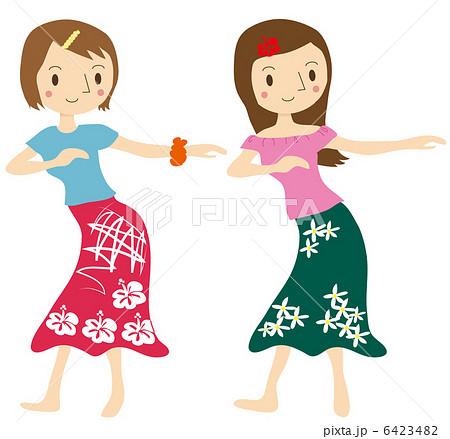 フラダンスをする女性のイラスト素材 6423482 Pixta