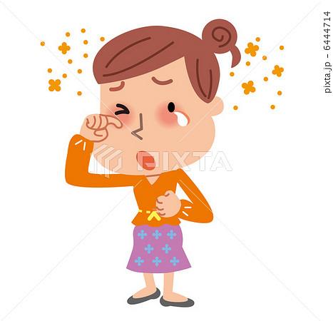 花粉症 目が痒い女性 6444714