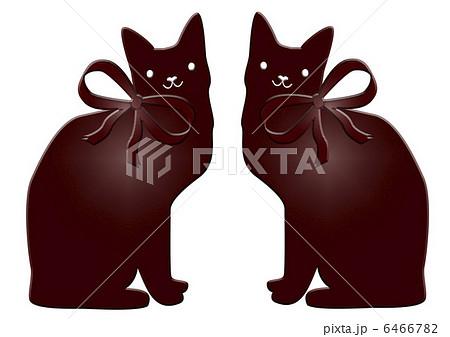 猫の板チョコプレート 左右対称のイラスト素材 6466782 Pixta