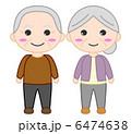 おばあちゃん おじいちゃん お年寄りのイラスト 6474638