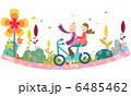 サイクリング カップル 二人のイラスト 6485462