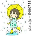 雨の日女の子 6490756