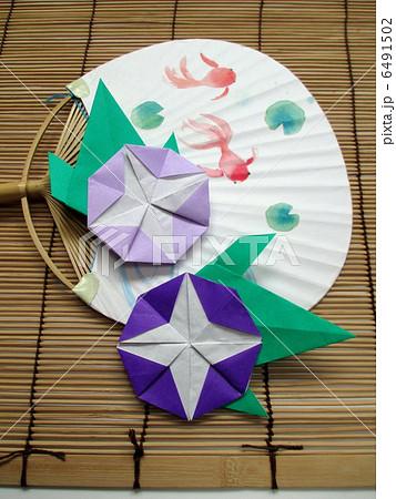 クリスマス 折り紙 朝顔 折り紙 : pixta.jp
