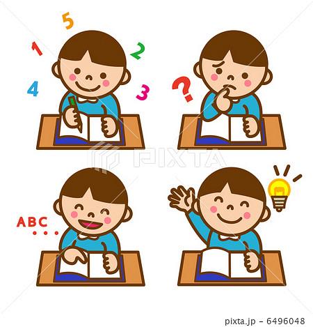勉強する男の子のイラスト素材 6496048 Pixta