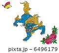 唐獅子牡丹と蝶 6496179