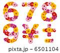 花の数字、数字、ナンバー、花、 6501104