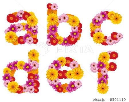 花の小文字、アルファベット、花、英語、 6501110