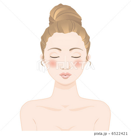 キス顔の女性 のイラスト素材