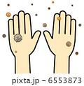 手の甲(黴菌)B-7 6553873