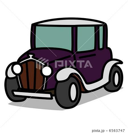 シンプルイラスト車40 クラシックカーのイラスト素材 6563747 Pixta