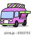シンプルイラスト「車58 移動販売車」 6563755