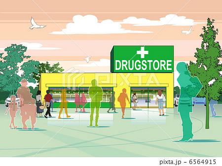 薬局のイラスト素材 6564915 Pixta