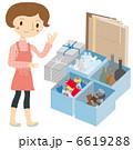 女性 ゴミの分別 6619288