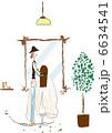 美容室 美容院 ヘアサロンのイラスト 6634541