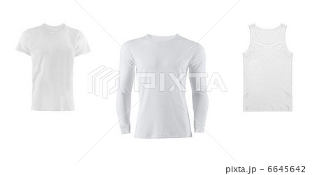 various t shirts on white backgroundの写真素材 [6645642] - PIXTA