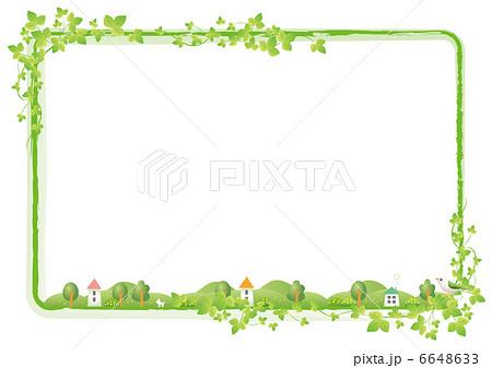 春のフレームホワイトのイラスト素材 6648633 Pixta